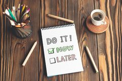 Do It Now and Time Management. Concept royalty free stock images