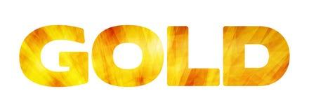 ` Do ouro do ` da palavra em um branco Gráficos de vetor Imagens de Stock Royalty Free