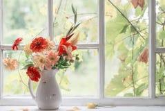 Do outono vida ainda na soleira Imagens de Stock Royalty Free