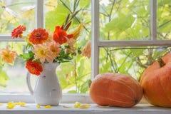 Do outono vida ainda na soleira Foto de Stock