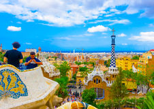 Do parque Guell Foto de Stock