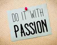 Do It With Passion Message Royalty Free Stock Photography
