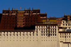 Do potala do palácio o fim acima Fotos de Stock Royalty Free