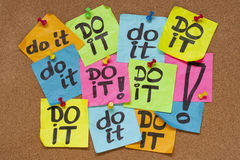 Do it - procrastination concept Royalty Free Stock Images