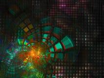 Do projeto digital abstrato do movimento do fractal do Fractal a tecnologia abstrata futurista torna digital, disco, negócio, pro Imagem de Stock