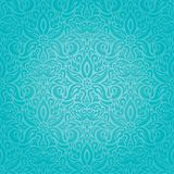 Do projeto floral do fundo do vintage do feriado de turquesa papel de parede azul-à-verde na moda da forma ilustração stock