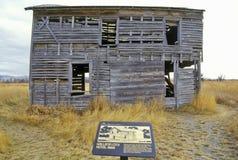 2do pueblo fantasma de la ciudad de la galatina, 3 bifurcaciones, TA al principio del río Missouri Imagen de archivo libre de regalías