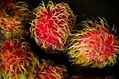 Do Rambutan do fruto vida ainda na mesa de cozinha preta Foto de Stock