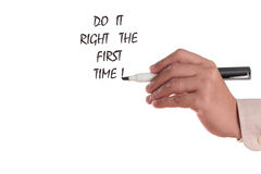 Do it right the first time Royalty Free Stock Photography