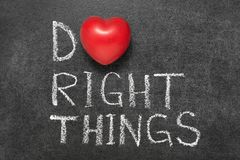 Do right things Royalty Free Stock Photography
