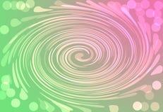 Do rosa festivo do bokeh de Duotone círculo abstrato verde dourado digital ilustração royalty free