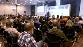 Do seminário da conferência da reunião do escritório executivos do conceito 4k do treinamento filme