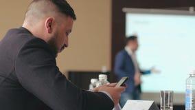 Do seminário da conferência da reunião do escritório executivos do conceito do treinamento vídeos de arquivo