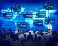 Do seminário executivos dos conceitos da bolsa de valores fotos de stock royalty free