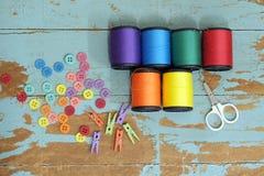 Do some needlework Stock Photo