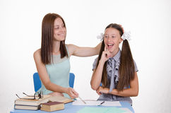 Do student have a great idea Stock Image