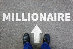 Do sucesso rico do homem de negócios da carreira da riqueza do milionário bu bem sucedidos fotografia de stock