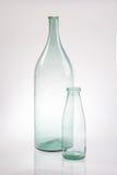 Do sumário garrafa de vidro clara do vintage da vida ainda Imagem de Stock