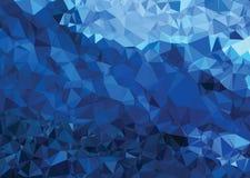 Do sumário moderno da geometria do triângulo da textura do fundo azul forte imagens de stock royalty free
