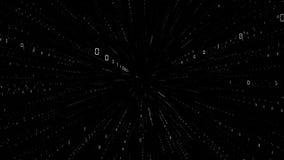 Do túnel futurista dos dados de Digitas laço sem emenda Números binários no Cyberspace ilustração royalty free