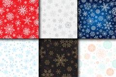 Do tempo sem emenda do teste padrão do vetor do floco de neve fundo tradicional do Natal do papel de envolvimento de dezembro do  ilustração royalty free