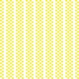 Do teste padrão sem emenda do coração de Yllow fundo branco Eps 10 ilustração do vetor