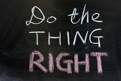 Do the thing right Royalty Free Stock Images