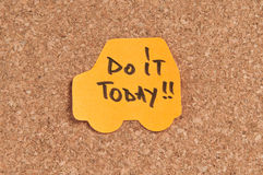 Do It Today. Written on a sticky note Royalty Free Stock Photos