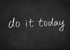 Do it today Royalty Free Stock Images