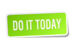Do it today square sticker Royalty Free Stock Photo
