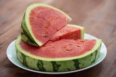 Do verão do fruto vida ainda, frescor natural da melancia Fotografia de Stock Royalty Free