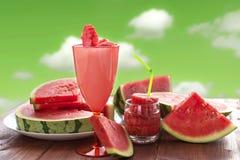 Do verão do fruto vida ainda, frescor natural da melancia Imagem de Stock
