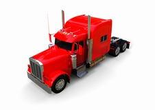 Do vermelho caminhão Semi Fotografia de Stock Royalty Free