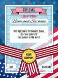 Do vetor americano da concessão do diploma fundo interessante brilhante com Foto de Stock Royalty Free