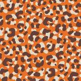 Do vetor animal desenhado à mão da pele do leopardo do sumário teste padrão sem emenda Textura lunática dos pontos Cores naturais ilustração royalty free