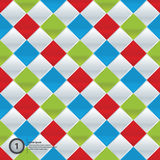Do vetor mosaico colorida. Teste padrão simples em quatro cores na moda. Fotografia de Stock Royalty Free