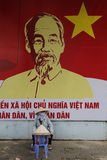 Do vietnamita vendedor dos chapéus do La não Foto de Stock Royalty Free