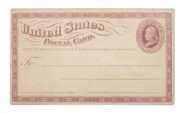 Do vintage de Estados Unidos cartão do centavo uma vez Imagens de Stock Royalty Free