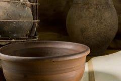 Do vintage vida ainda com cerâmica Imagem de Stock