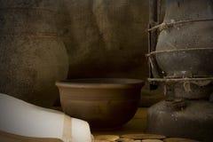 Do vintage vida ainda com cerâmica Fotografia de Stock Royalty Free