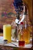 Do vintage vida ainda com tubos de ensaio da farmácia Imagem de Stock Royalty Free