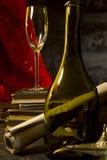 Do vintage vida ainda com vinho Foto de Stock