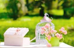 Do vintage vida ainda no jardim Fotografia de Stock Royalty Free