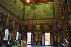Do wat budista da construção da introspecção nonthaburi buakwan Tailândia fotografia de stock royalty free