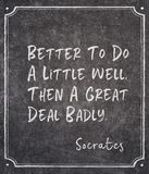 Do well Socrates quote royalty free stock image