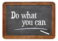 Do what you can blackboard sign Stock Photos
