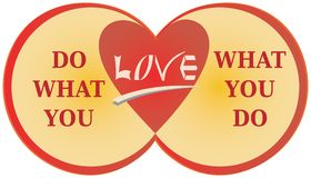 Do What You Love Quote - Love What You Do Illustration Stock Images