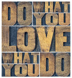 Do what you love word abstract Stock Images
