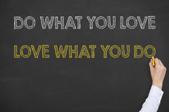 Do What You Love Writing on Blackboard Royalty Free Stock Photo