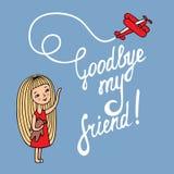Do widzenia mój przyjaciel royalty ilustracja